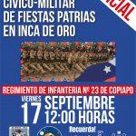 Invitacion desfile civico militar en inca de oro